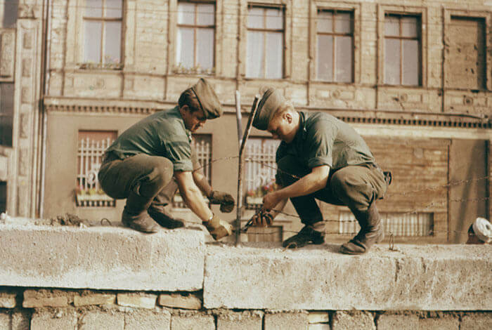 Construction of the Berlin Wall 1961