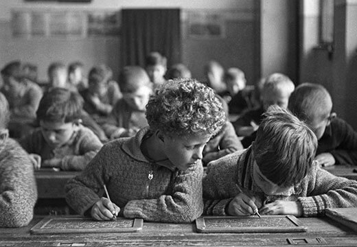 Symbolic photo for Calendars: kids writing in school